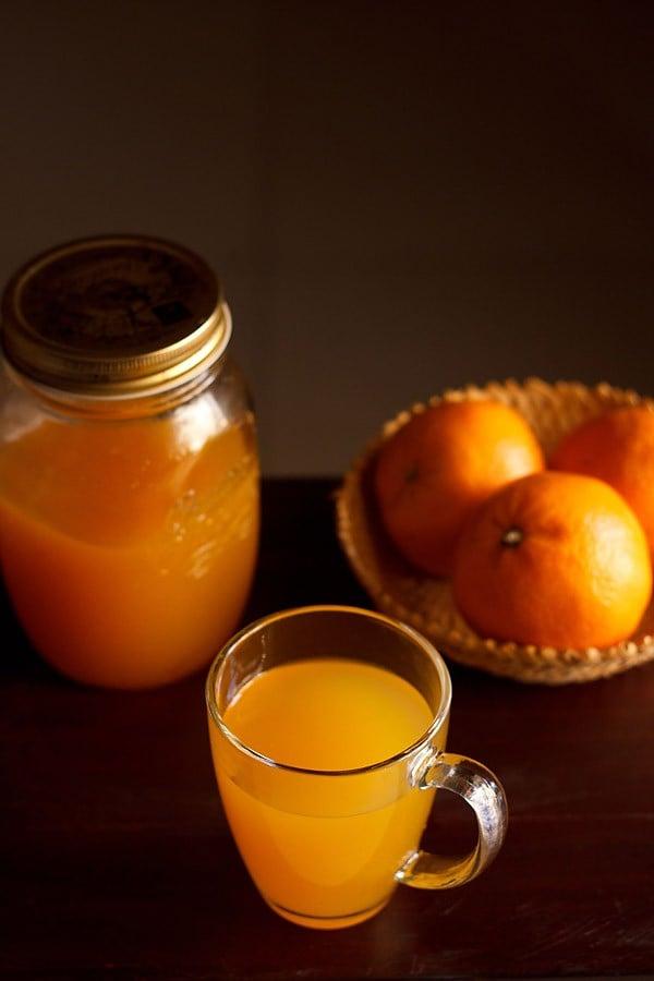 orange squash recipe, how to make orange squash | stepwise