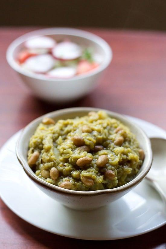 palak khichdi recipe, how to make palak khichdi | palak recipes