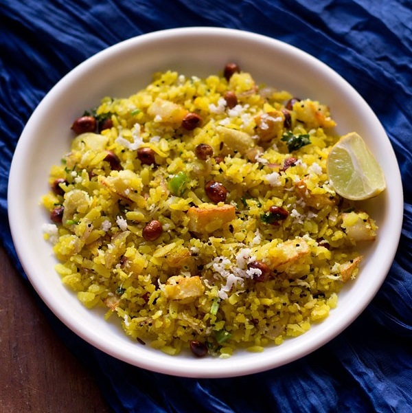 maharashtrian poha recipe, kanda batata poha recipe