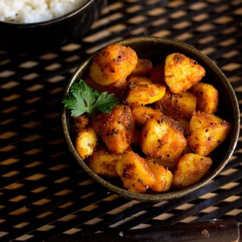 aloo roast recipe, potato roast recipe