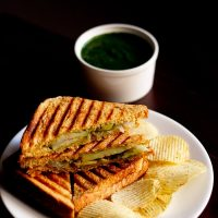 grilled sandwich recipe, how to make veg grilled sandwich recipe