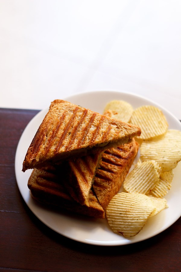 veg grilled sandwich recipe, grilled sandwich recipe