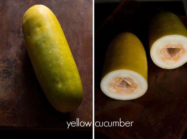 yellow cucumber for cake recipe