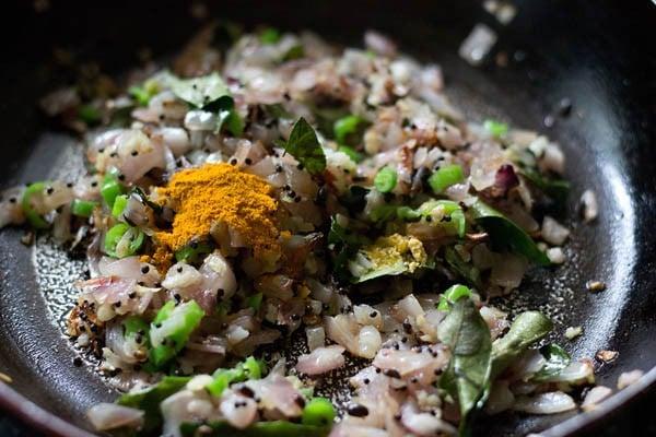 add spices for making aloo bonda recipe