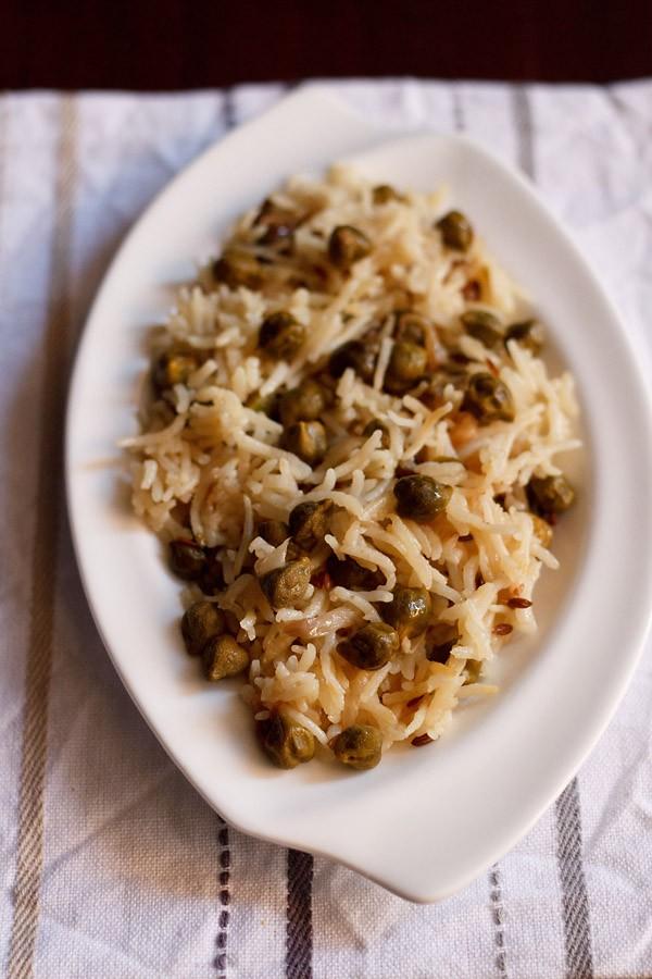 aloo choliya pulao recipe