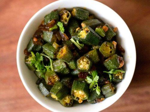 Andhra style okra fry recipe