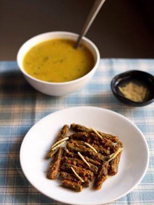 besan bhindi recipe, rajasthani bhindi recipe