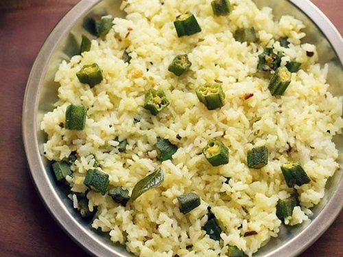 bhindi rice recipe