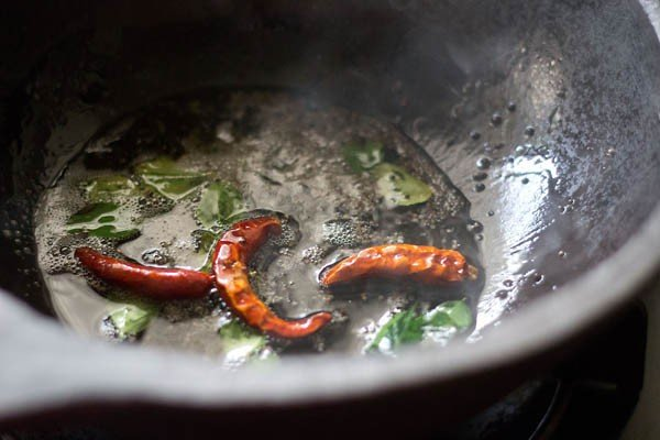 frying spices in oil