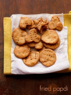 fried papdi recipe, papdi recipe, baked papdi recipe