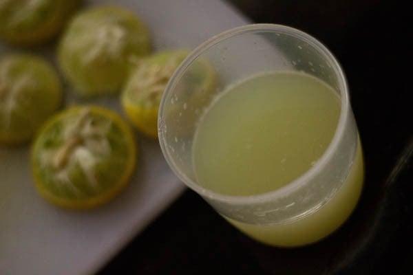 lemon juice for making mirchi kaa aachar