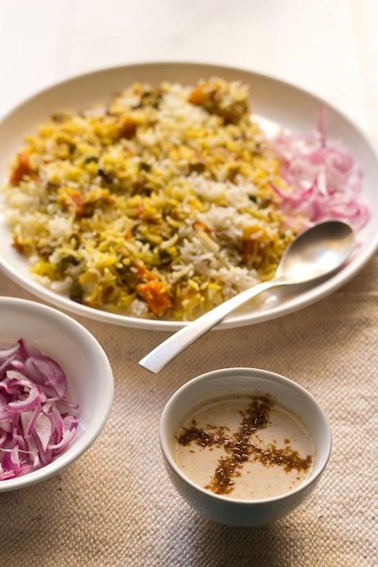 burhani raita recipe – boorani raita recipe for veg pulao & biryani