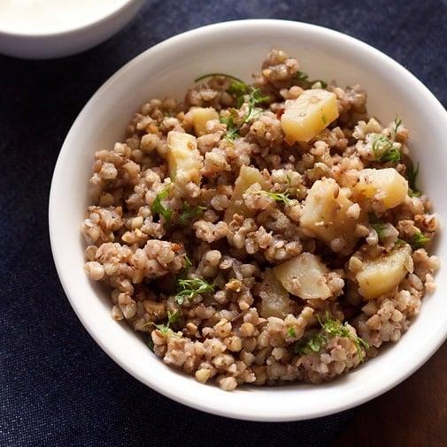 buckwheat khichdi recipe, kuttu ki khichdi recipe