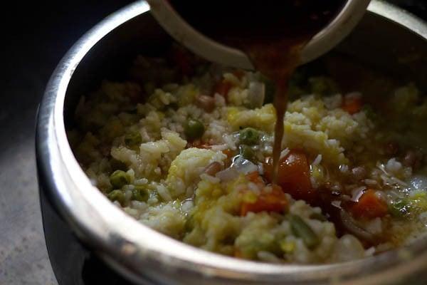 add tamarind pulp - bisi bele bath recipe