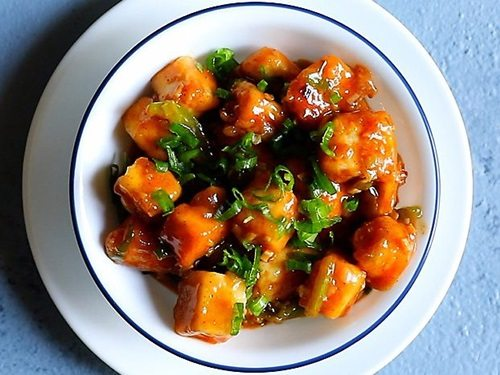 chilli paneer restaurant style recipe