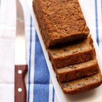 banana cake recipe, how to make eggless banana cake recipe
