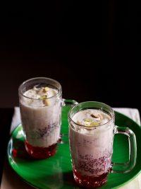 falooda recipe, how to make falooda recipe | falooda ice cream