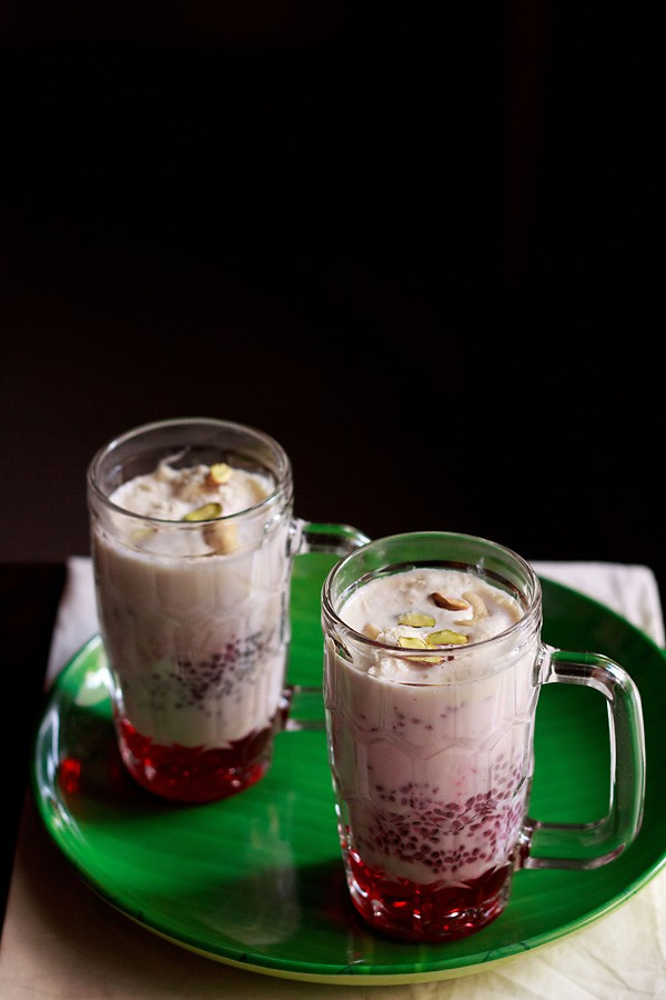 falooda recipe, how to make falooda recipe with ice cream