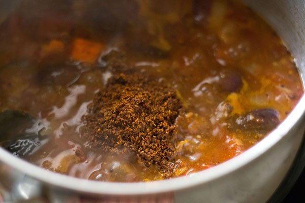 add masala - making hotel style tiffin sambar recipe