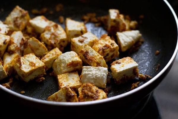 add paneer to make malai paneer recipe