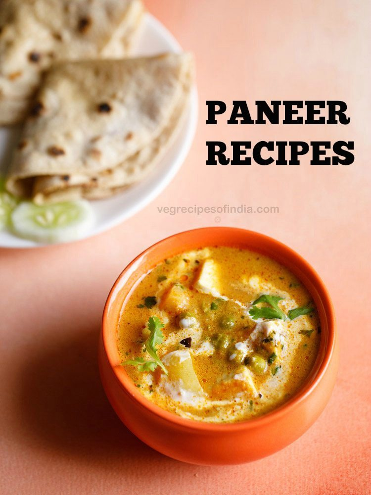 paneer recipes, indian paneer recipes, cottage cheese recipes