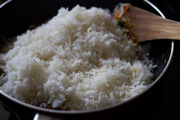 mix tawa pulao gently