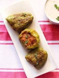 stuffed capsicum | bharwa shimla mirch recipe | stuffed capsicum recipe