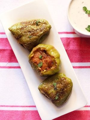 stuffed capsicum | bharwa shimla mirch recipe | stuffed capsicum recipe
