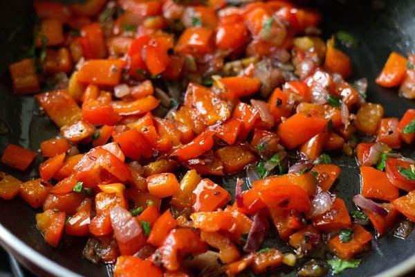stir - making calzone recipe
