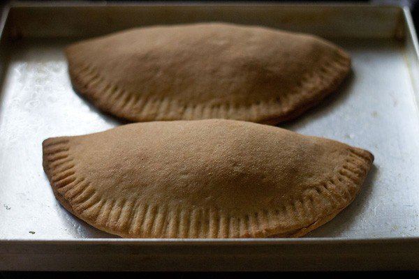 bake the calzone - making calzone recipe