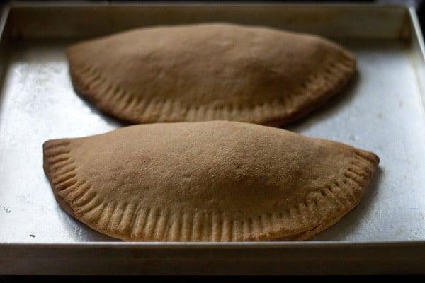 bake the calzone - making calzone recipe