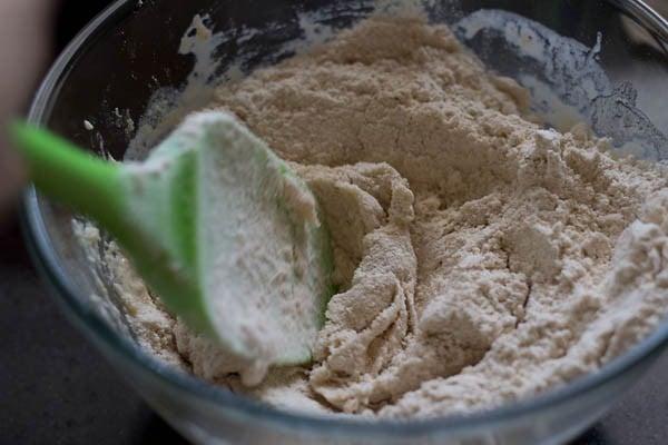 add flour - making calzone recipe