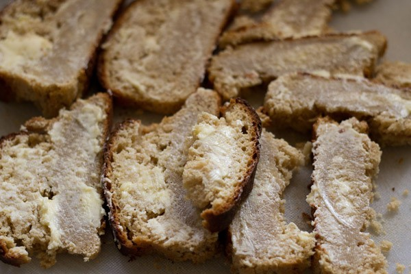 buttered bread for bread butter pudding recipe