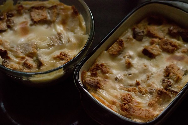 eggless bread butter pudding recipe