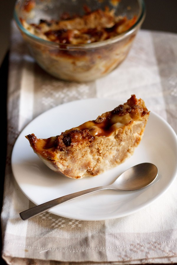 eggless-bread-butter-pudding
