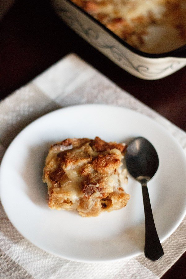 eggless bread pudding, eggless bread butter pudding recipe