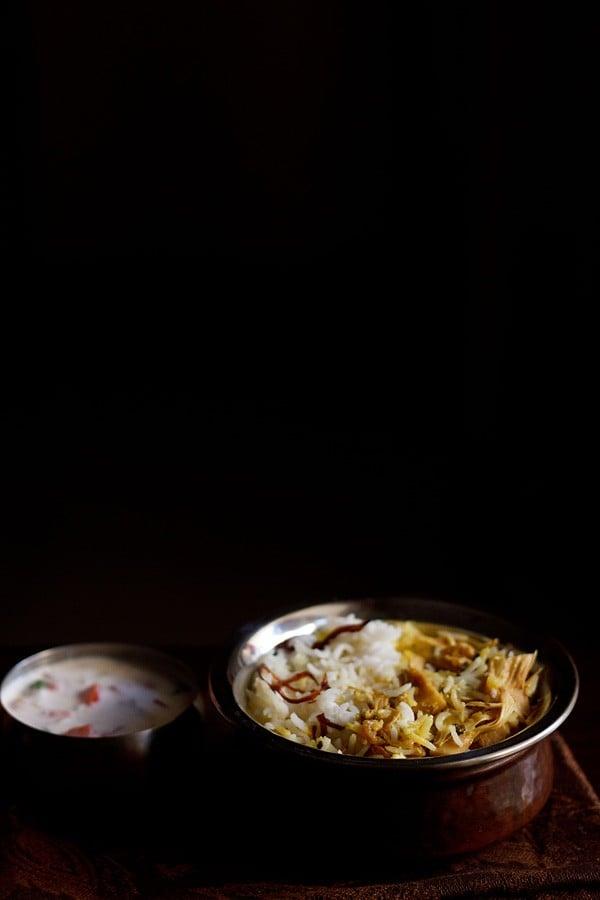 kathal biryani recipe or jackfruit biryani recipe | biryani recipes