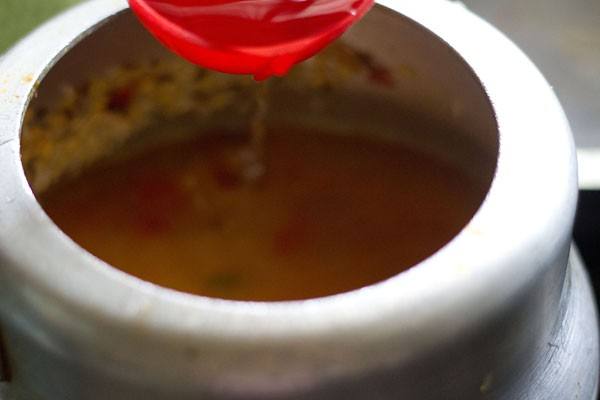 add water to moong dal khichdi