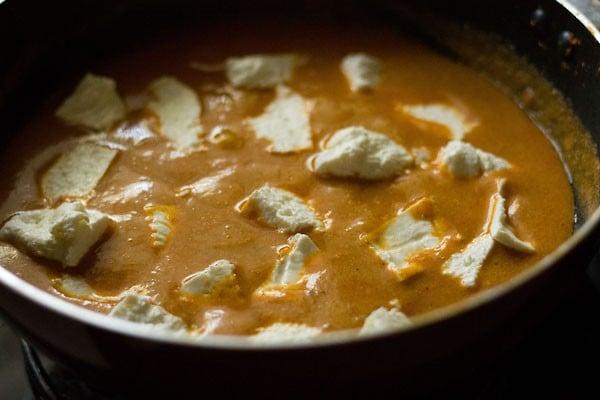 add paneer to make paneer makhanwala recipe