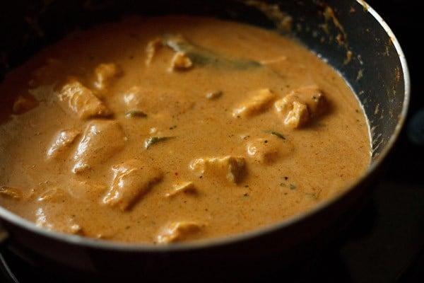 check taste of gravy - paneer makhanwala recipe