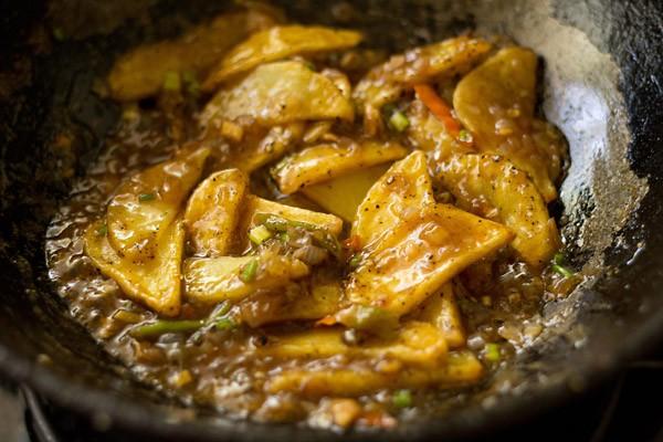 potato wedges for schezwan chilli potatoes recipe