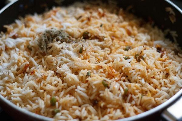 salt to make schezwan fried rice recipe