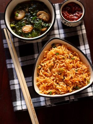 schezwan fried rice recipe, veg schezwan fried rice recipe
