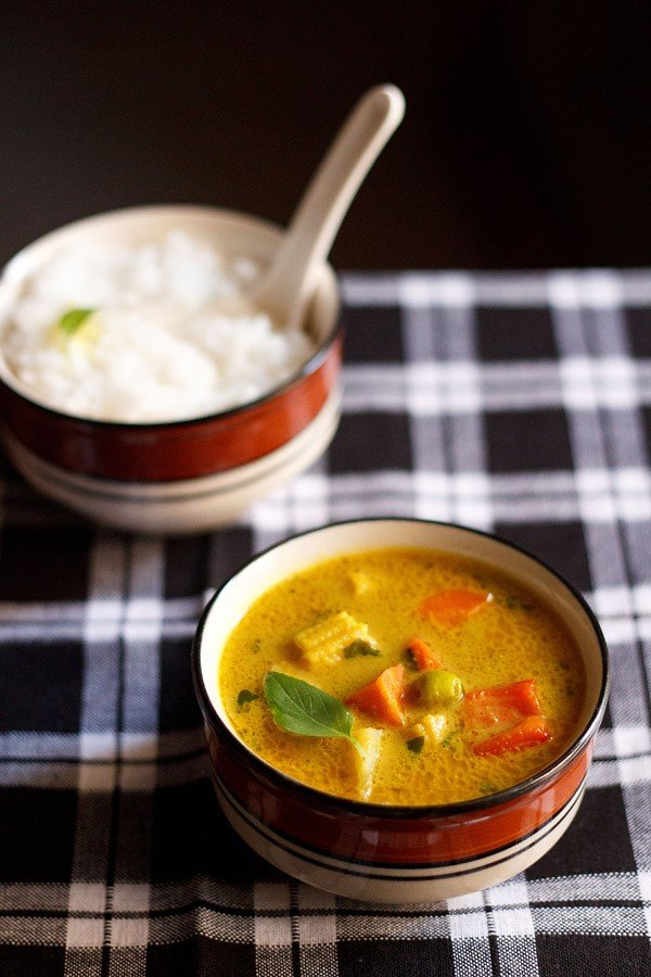 Spicy, Yellow Vegetarian Curry