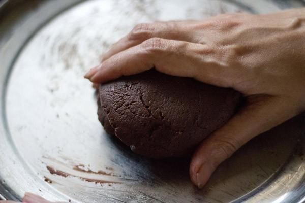 chocolate sandesh recipe mixture