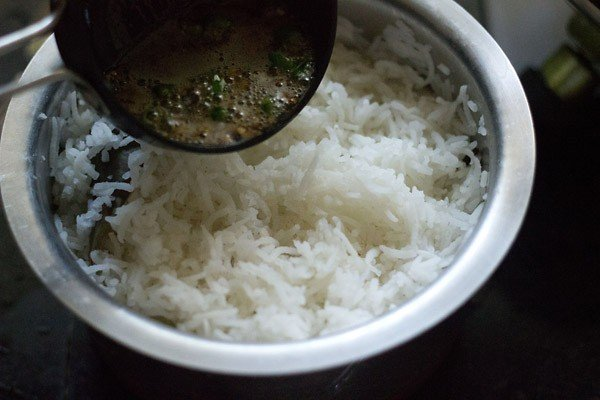 add tadka to jeera rice recipe