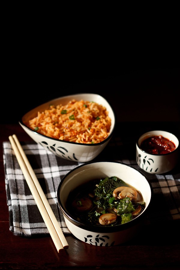 kale mushroom in ginger sauce recipe