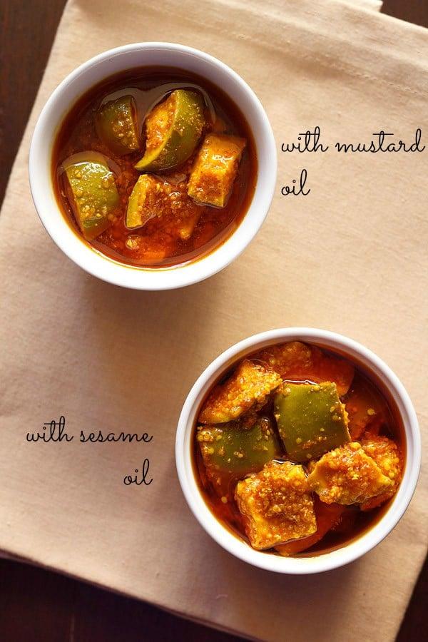 gujarati mango pickle recipe | gujarati methia keri pickle ...