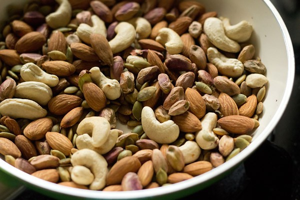 dry fruits for making milk masala powder recipe