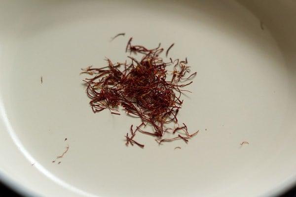 saffron for making milk masala powder recipe